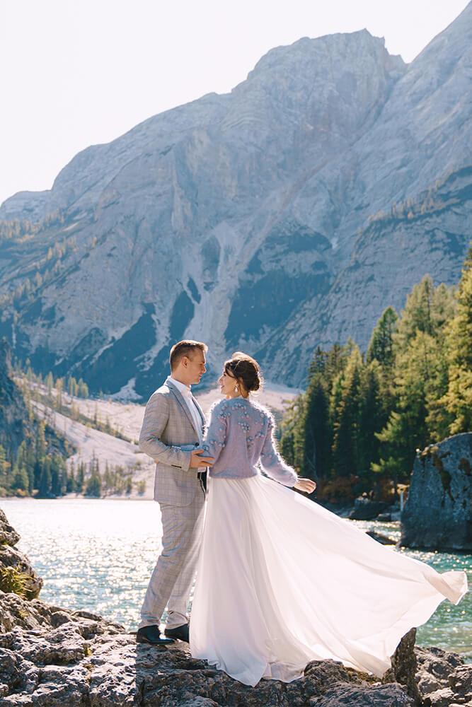 Hochzeitsfoto-Pragser-Wildsee